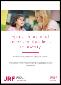 Frontcover of SEN and poverty report