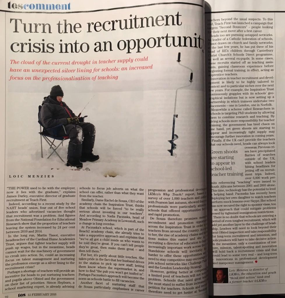 Teacher Recruitment crisis TES